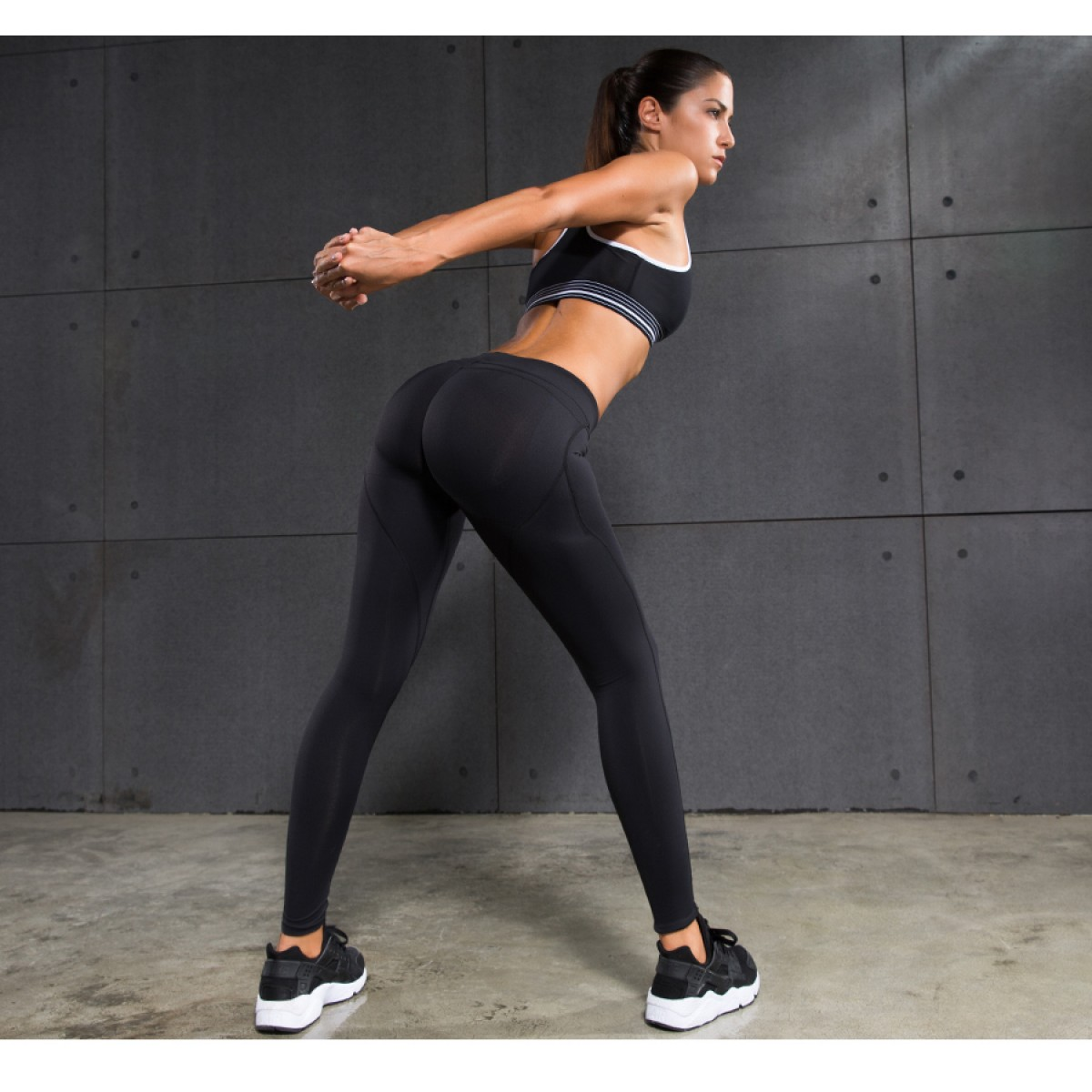 MID-RISE Women s Shaping up effect Running Yoga Gym Tights Fitness Hip  compression Pants 719da58ca5a