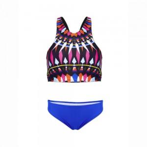 high-neck-women-geometric-printed-bikini-push-up-padded-crop-top-bathing-swimwear-swimsuit